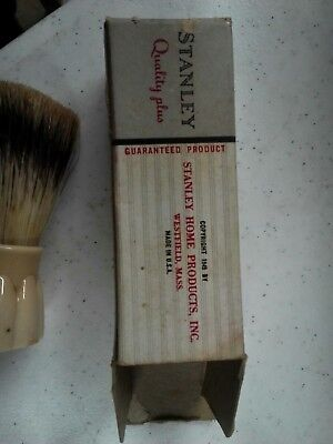 Vintage Stanhome Stanley Shaving Brush w Stand Celluloid?