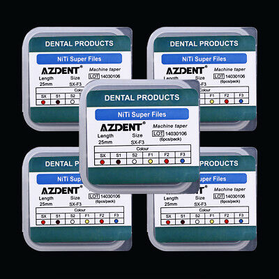 5x Dental Endodontic Engine Use NiTi Super Rotary File 25mm AZDENT
