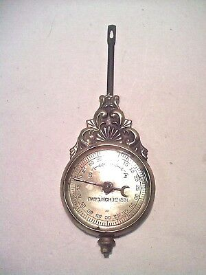 Antique  *  Kitchen Clock Pendulum With F-S Dial & Hand