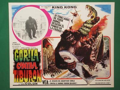 APE Sci-Fi GIANT GORILLA No King Kong SHARK Snake AMAZING ART MEXICAN LOBBY CARD