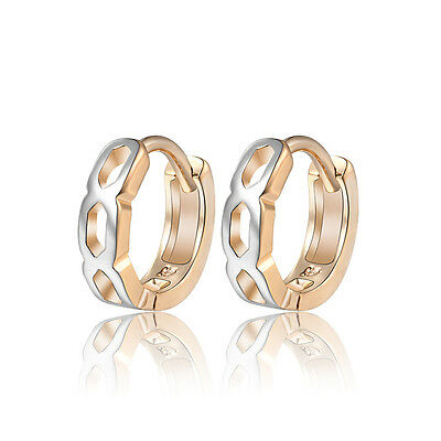 18 k Gold Plated Jewellery Small Baby Girls Hollow Hoops First Earrings E968