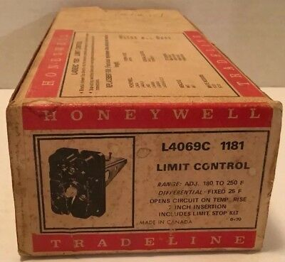 Honeywell Limit Control L4069C 1181 Nos With Original Instructions