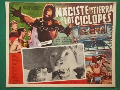 Atlas Against The Cyclops Strongman Monster Peplum Spanish Mexican Lobby Card 5