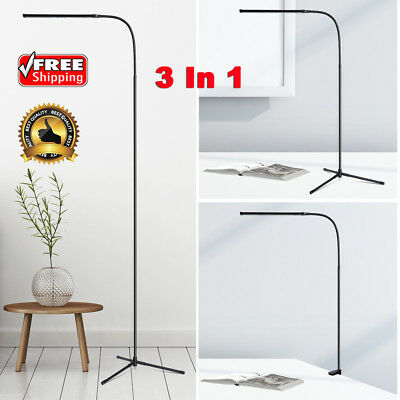 Adjustable LED Floor Lamp Flexible Dimmable Home Office Desk Stand Light Tripod