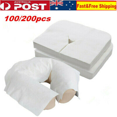 100/200X Disposable Massage Face Headrest Covers Comfortable Face Cradle Covers