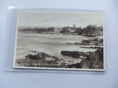DUNBAR Castle and Harbour Entrance, Postcard by Valentine, Unused- Scotland