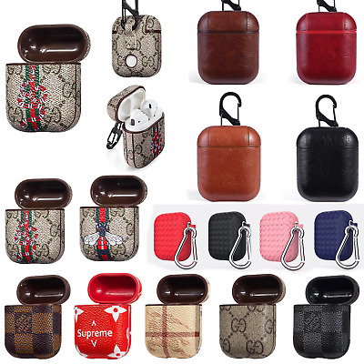 NEW Leather Protective Cover For Apple AirPods Wireless Earphone Charging Case