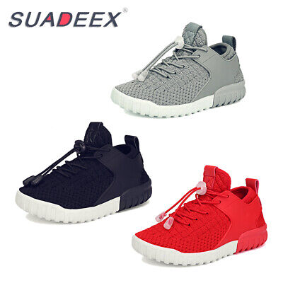 Boys Girls Flyknit Breathable Soft Althletic Sports Shoes Kids Outdoor Sneakers