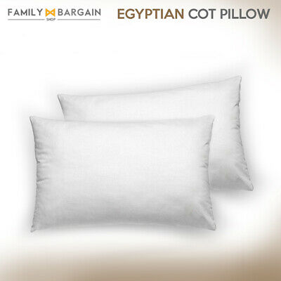 Luxury Egyptian Cotton Comfort Cot Pillows Set Extra Filling Firm Support Pack
