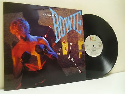 DAVID BOWIE lets dance LP EX+/EX AML 3029, with lyric inner sleeve, vinyl, album