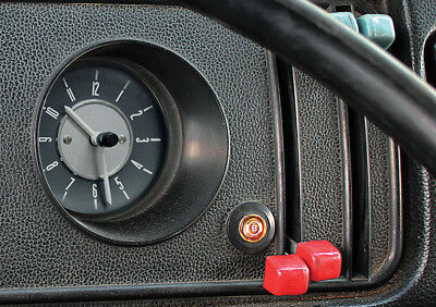 Deluxe Dash Clock Built-In Analogue For VW T2 Bay 1967-1979 Campervan Motorhome