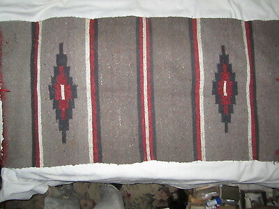 "Vintage 58"" X 29"" Native Wool Woven Rug"