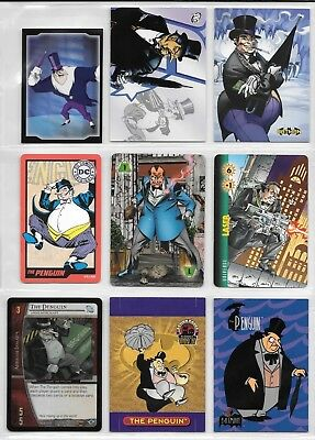 Penguin, DC card and sticker lot