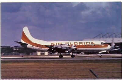 Midway / Air Sunshine / Air Florida  Airlines L-188 Electra Hqts Mia Airport 215