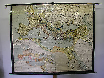 Old Schulwandkarte Imperium Roman Roman Empire 201x164 1953 Vintage Map