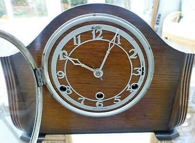Bentima Westminster Chiming Mantel Clock with strike silent.Beautiful condition