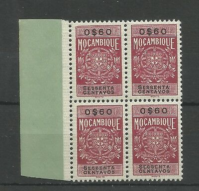 Mozambique MNH Block of 4 revenue fiscal O$60 margin stamps