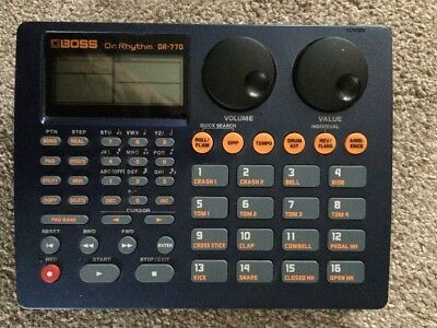 Boss DR-770 Rhythm drum machine, Untested With No Power Supply