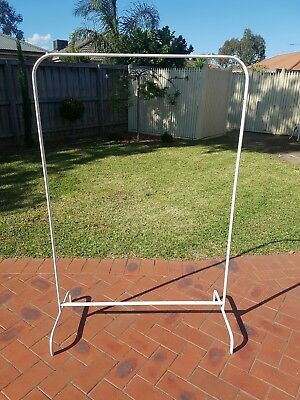 Free standing clothes rack by ikea- white