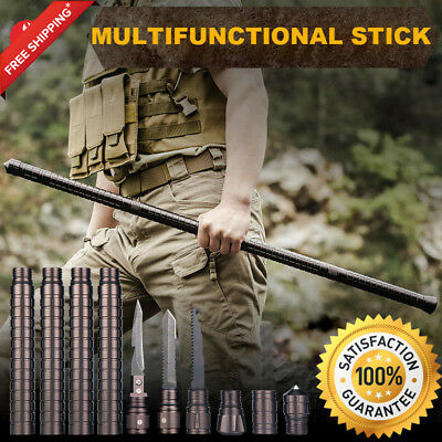 Multi-tool stick Outdoor Camping DIY Safety Home Car Security Survival Tool