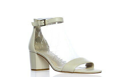 f2ef994a675 NEW NINE WEST Womens Fields Off White Ankle Strap Heels Size 10 ...
