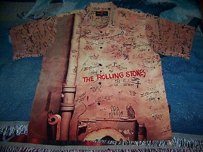 NEW Vintage THE ROLLING STONES BEGGARS BANQUET Dragonfly Button Dress Shirt XXL