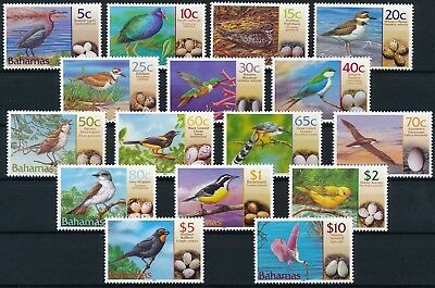 [H11116] Bahamas 2001 : Birds - Good Set of Very Fine MNH Stamps - $100