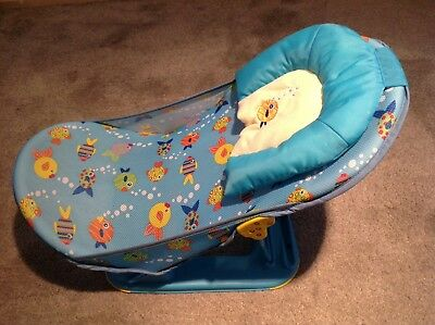 Summer Infant Deluxe Baby Bath Support Seat Sling Fold Away Newborn