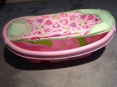 Summer Baby Bath 3 Stage Newborn Sling to Toddler Pink Excellent Condition