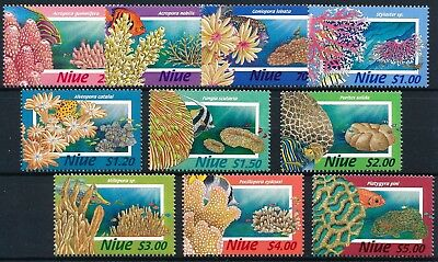 [H11501] Niue 1996 : Corals - Good Set of Very Fine MNH Stamps - $45