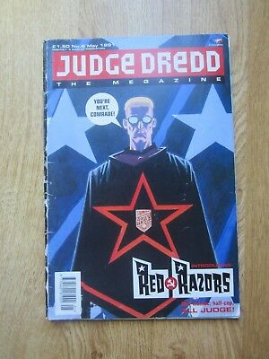 JUDGE DREDD THE MEGAZINE #8 MAY 1991 2000AD Magazine Comic