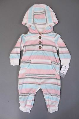 f0a2ae655b51 Nwt Carters White Fleece Girl Size 18 Mo. White Hooded Jumpsuit.