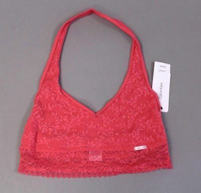 4e1f5fc069c53 Calvin Klein Women s Bare Lace Unlined Halter Bralette AN3 Pink Medium NWT
