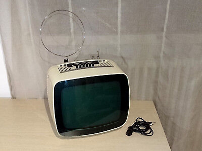 "Indesit Mod T 12"" SI Matr 771 Televisore TV Set Space Age Made in Italy Vintage"