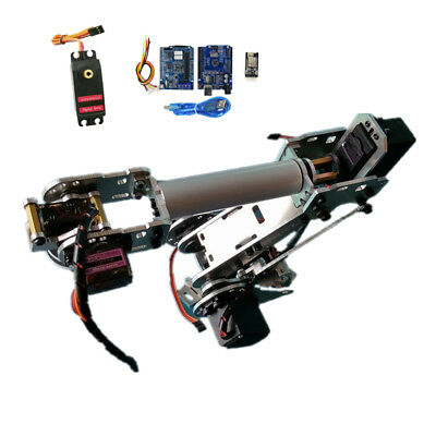 Wifi Control S5 5DOF Metal Mechanical Robot Arm Clamp Claw Kit Manipulator
