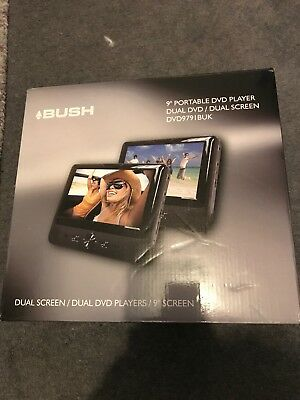 "Bush 9"" Dvd Player Dual Dvd Dual Screen Dvd979ibuk"