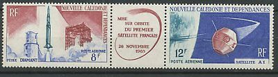 [K0038] New Caledonia 66 airmail space set very fine MNH stamps in Gutterpair