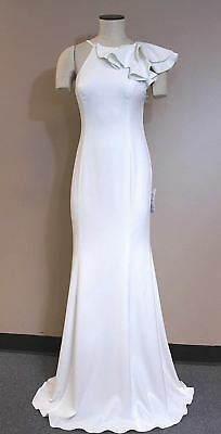 ce4515f399a Jay Godfrey May One-Shoulder Ruffle Gown 98604 CB8 Light Ivory Size 4 NWT