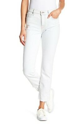 0976cc7d9e03 NEW 7 FOR All Mankind Edie High Waist Crop Straight Jeans, Size 30 ...
