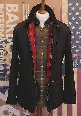 £199 Mens Barbour Ashby smart black waxed jacket size S Small 36