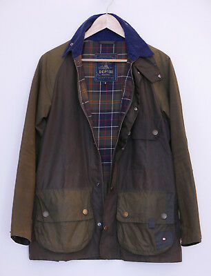 £245 rare Mens Barbour Dept B Customised SL Bedale olive wax jacket size S Small
