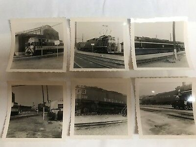 Old VIRGINIAN RAILWAY Photos  - 6 in All - Electric Locomotives FM Unit Steam