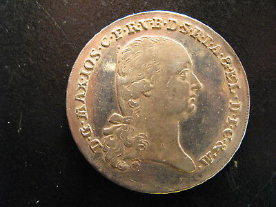 German States, Bavaria Silver Thaler Dated 1800, Km#644, High Grade, Nice Coin !
