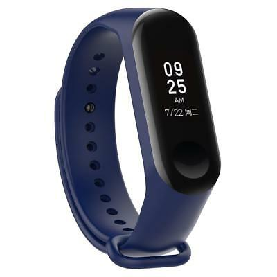 Silicone 220mm Wriststrap Band for Xiaomi Miband 3 Watch Dark Blue