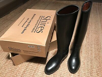 643f7097230a SHIRES LONG RIDING Boots Childrens Size 3 Black - £6.05
