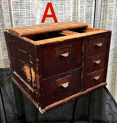 Antique Globe Wernicke FILE CABINET SECTION Very Rough/AS-IS/Needs Repair *A*