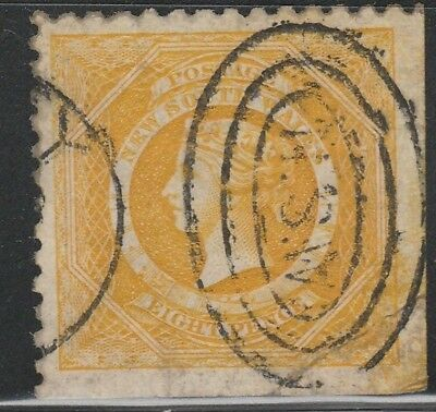 NEW SOUTH WALES STAMP 1882-91 SC# 67 A13 8p yellow QUEEN VICTORIA