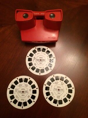 Red 3D View master & 3 Garfield Discs ....