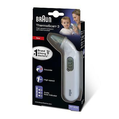 BRAUN IRT3030 Baby Thermoscan 3 Infrared Ear Digital Temperature Thermometer New