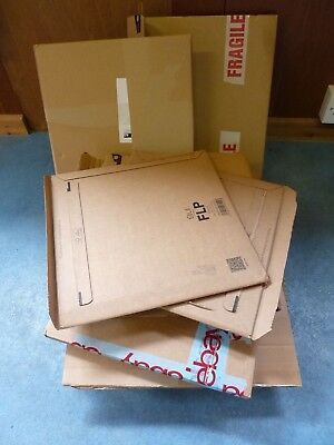 20 x LP MAILER CARDBOARD BOXES IDEAL RE-USE TO SELL & SEND YOUR LPs IN THE POST